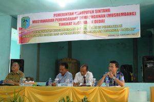 Tiga Anggota DPRD Dapil Sintang 4 Hadiri Musrembang Kecamatan Dedai