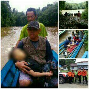 Korban Perahu Karam di Sungai Silat berhasil ditemukan satu orang dan tim Basarnas sudah berada di TKP. Foto : dokumen FB Yokinson